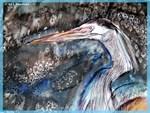 Crane, bird, art,