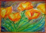 Golden poppies! Flowers! Art!