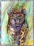 Leopard, wildlife art