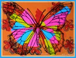 Butterfly, Bright nature art
