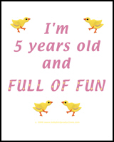 I'M 5 YEARS OLD AND FULL OF FUN TEES