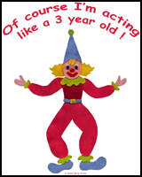CLOWNS FOR THREE YEAR OLDS