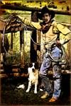 Americana Cowboy & Dog