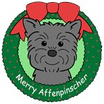 Affenpinscher Christmas Ornaments