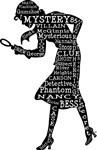 Nancy Drew Word Art Silhouette
