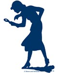 Nancy Drew Navy Silhouette