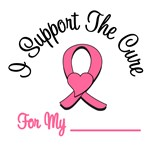 I Support The Cure Breast Cancer T-Shirts & Gifts