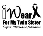 I Wear Black Ribbon For My Twin Sister T-Shirts &