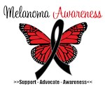 Butterfly Melanoma Awareness Shirts & Gifts