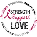 Multiple Myeloma Strength Support Love T-Shirts