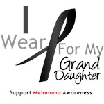 Melanoma I Wear Black Granddaughter Shirts