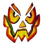 Scary Pumpkin Face 3D