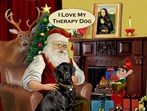 SANTA AT HOME<br>LABRADOR THERAPY DOG (Blk)