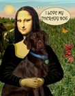MONA LISA & HER<br>LABRADOR THERAPY DOG (C)
