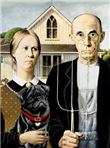 AMERICAN GOTHIC<br>& Black Pug #17