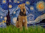 STARRY NIGHT<br>With Airedale #1