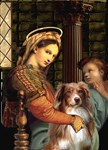 MADONNA OF THE CHAIR<br>& Australian Shepherd