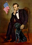 ABRAHAM LINCOLN<br>& Black Labrador Retriever