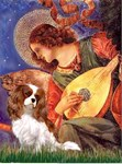 ANGEL WITH MANDOLIN<br>& Cavalier King Charles
