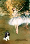 TWO DANCERS<br>& Cavalier King Charles Spaniel