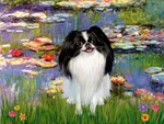 LILIES (#2)<br>& Japanese Chin (BW)