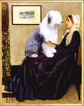 WHISTLER'S MOTHER<br>& Old English Sheepdog