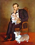 ABRAHAM LINCOLN<br>& 2 Welsh Corgis