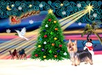 CHRISTMAS MAGIC<br>& Silky Terrier#10