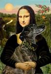 MONA LISA<br>& Brindle Greyhound
