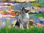 WATER LILIES<br>& Keeshond