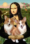MONA LISA<br>& 2 Welsh Corgis