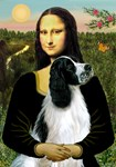 MONA LISA<br>& English Springer Spaniel (BW)