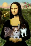 MONA LISA<br>& 3 Pomeranian Puppies