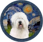 STARRY NIGHT (WREATH)<br>& Old English Sheepdog