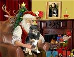 SANTA AT HOME<br>& Australian Shepherd