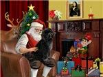 SANTA AT HOME<br>& Portuguese Water Dog