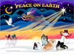 CHRISTMAS SUNRISE<br>& 4 Pomeranians