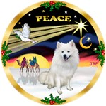 CHRISTMAS DOVE<br>& American Eskimo Spitz