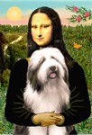 MONA LISA<br>&Bearded Collie #1