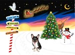 CHRISTMAS SIGNS<br>& Welsh Corgi Pup (tri)