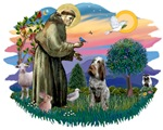 St. Francis #2 &<br> Italian Spinone (roan)