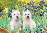 IRISES<br>With Two Westies<br>HOLIDAY CA