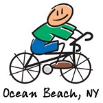 Ocean Beach Bicycle Design T-shirts and Gifts
