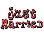 Funky Just Married T-shirts and Gifts