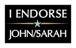 I endorse Sarah & John