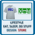 LIFESTYLE PICTOGRAMS: EAT SLEEP, DO STUFF