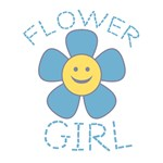 Smiley Flower Girl T-Shirts