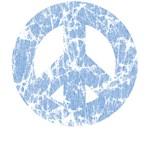 Classic Vintage Peace: Blue T-Shirts