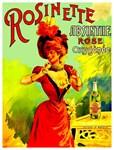 Rosinette Rose Absinthe Vintage Liquor Advertising