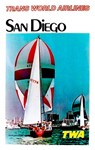 TWA Fly to San Diego Vintage Advertising Print